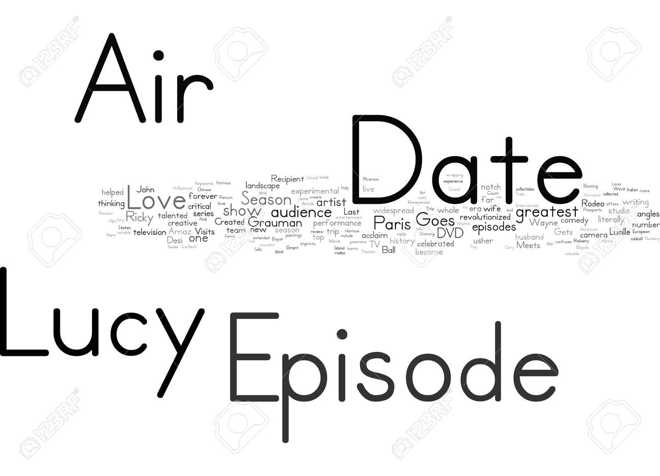 Word Cloud Summary of I Love Lucy Season 5 DVD Review Article - 160186353