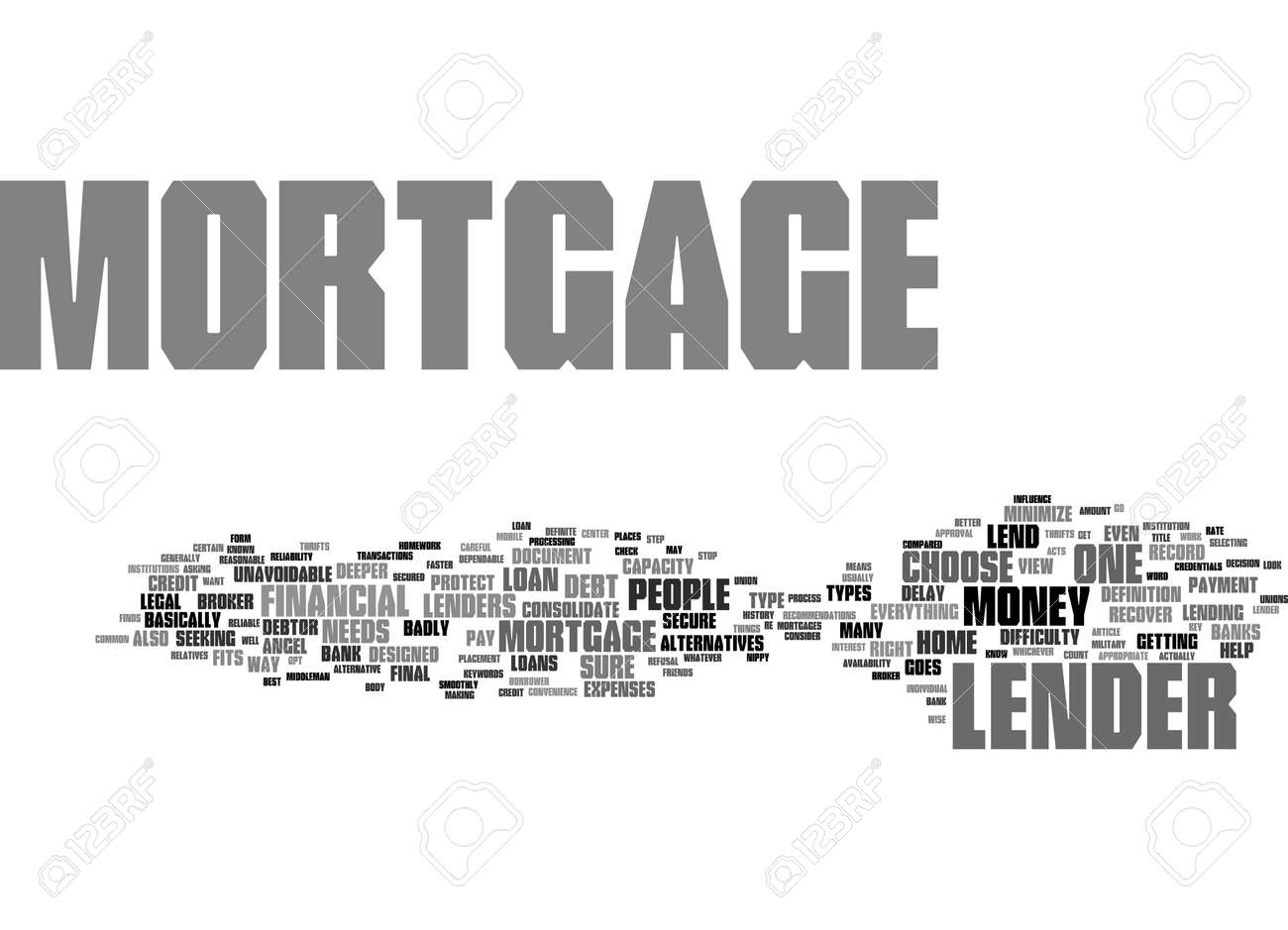 Word Cloud Summary of Mortgage Lender Article - 160186493