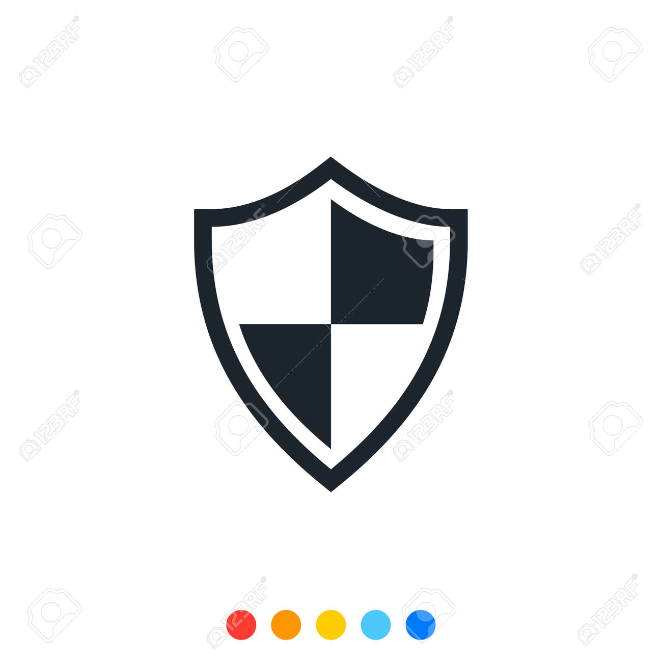 Protection shield icon,Interception icon,Antivirus icon. - 153946211