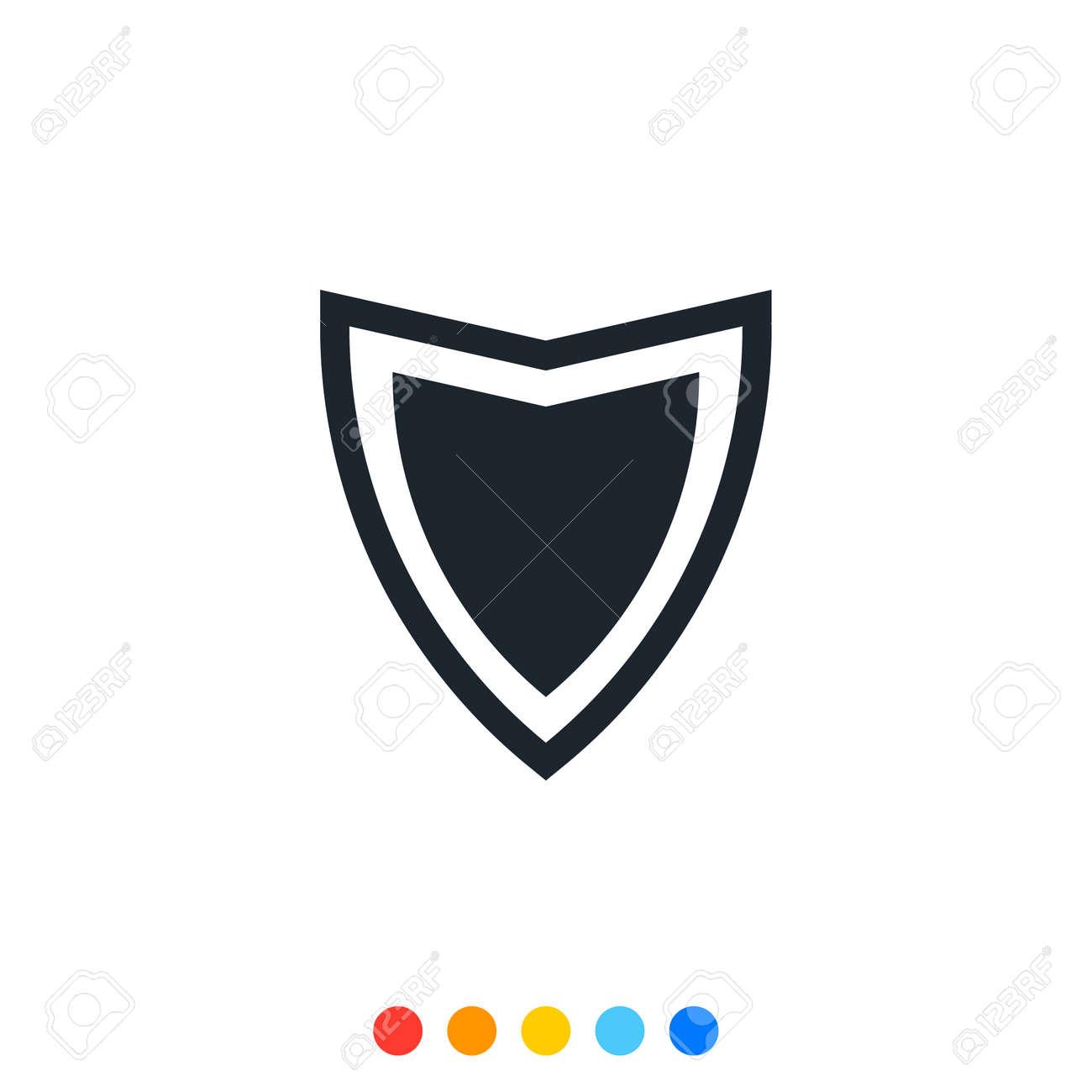 Protection shield icon,Interception icon,Antivirus icon. - 153946271
