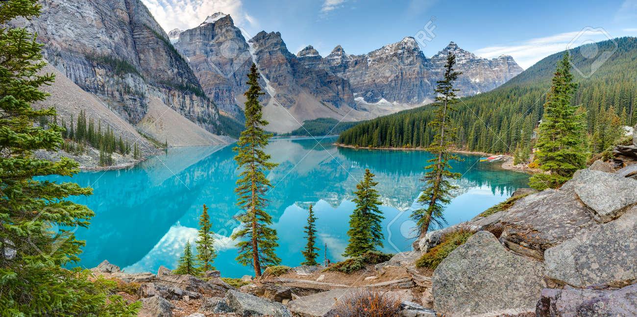 Moraine Lake In Banff National Park Alberta Canada