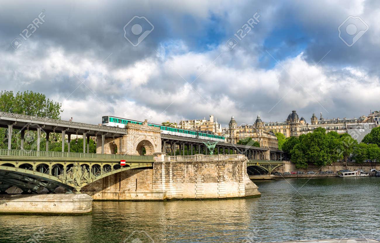 Paris France June 13 2017 View Of Pont De Bir Hakeim Formerly