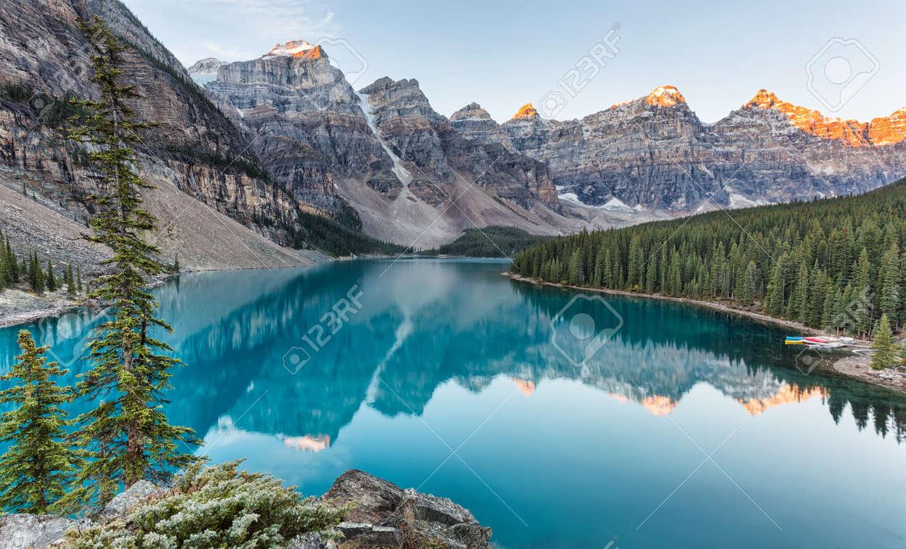 Moraine Lake Sunrise In Banff National Park Alberta Canada