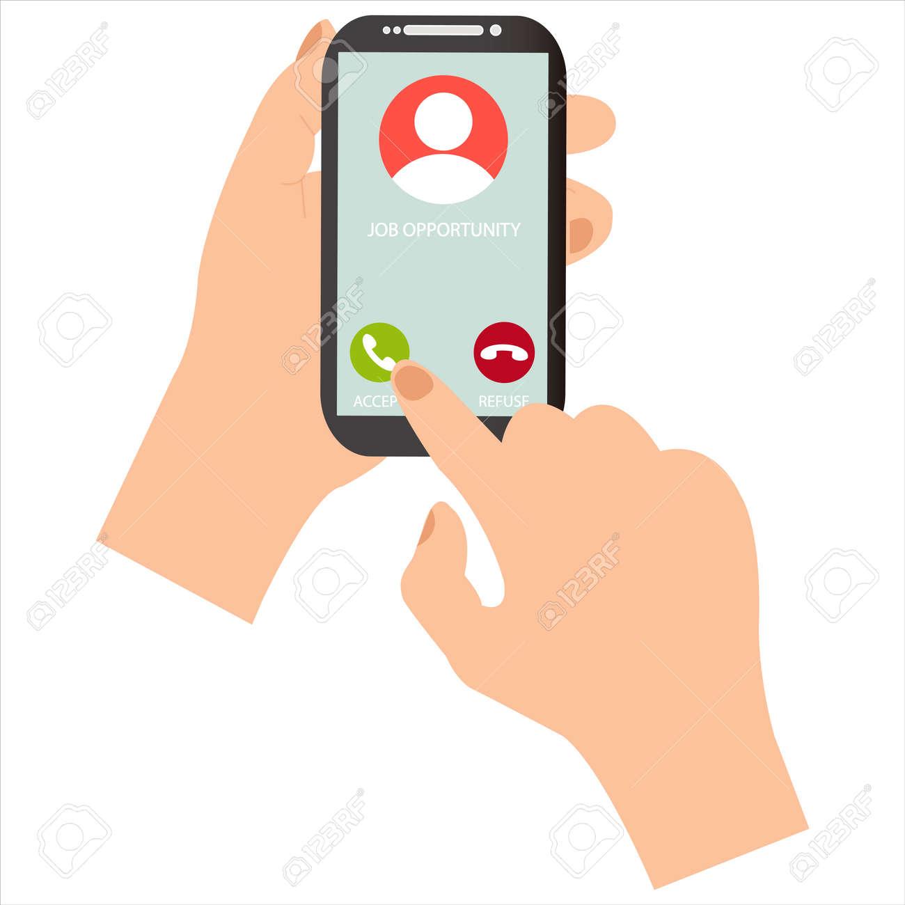 Receive a job offer through a phone call