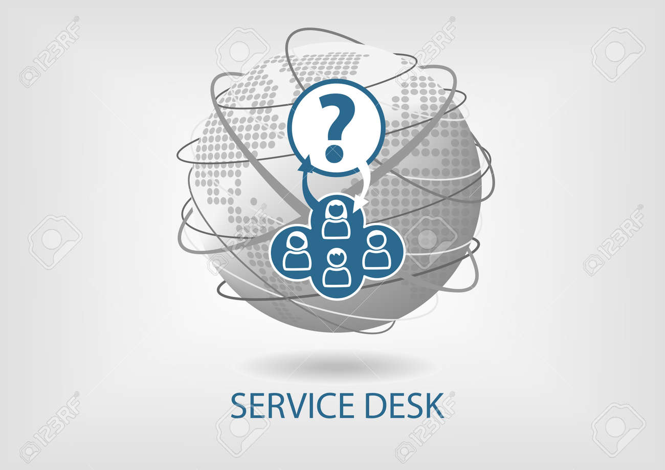 Global Service Desk Concept Vector Icon Stock Vector   48175511 Nice Look