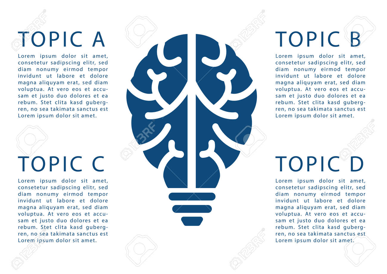 Infographic Template For E-learning, Brainstorming, Design Thinking ...