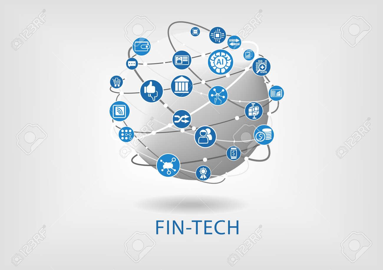 Vector infographic of fin-tech (financial technology) concept - 58853358