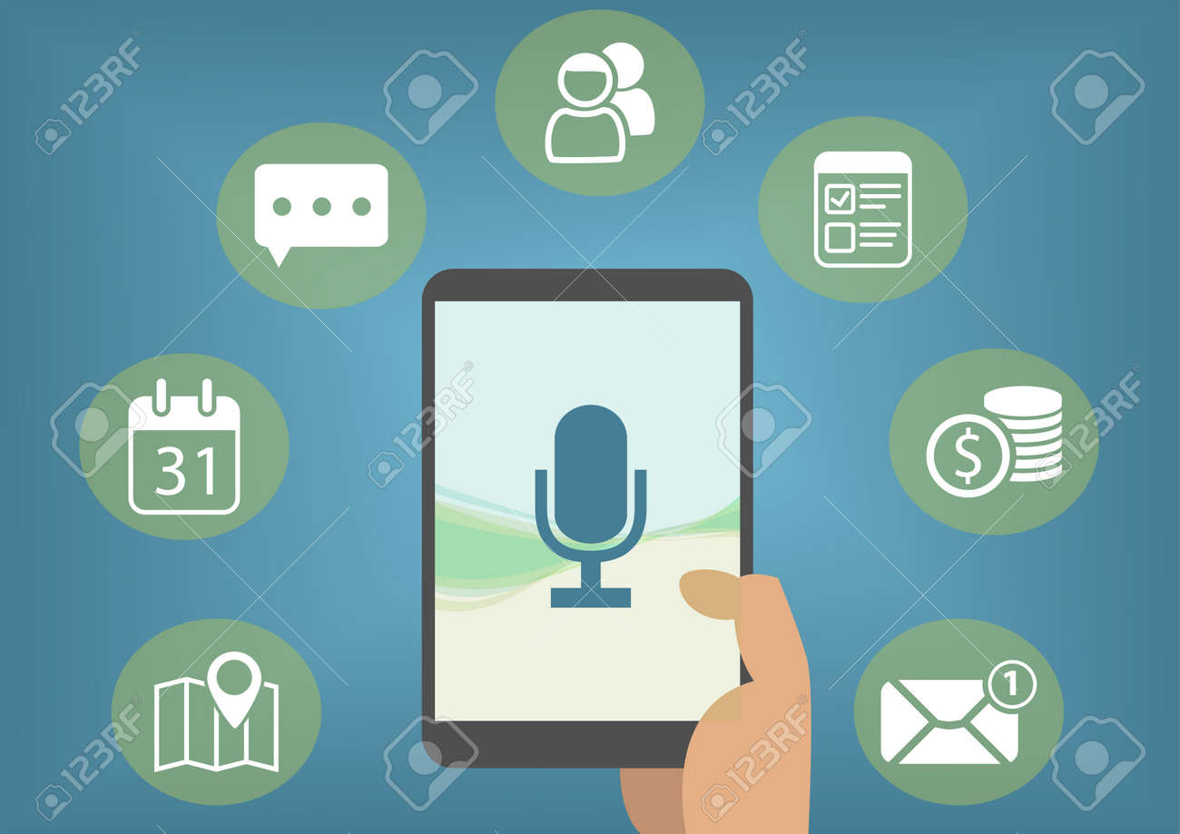 Digital personal assistant concept with speech recognition in order to retrieve emails, instant messages, calendar entries - 59162048