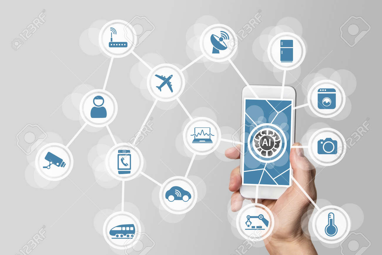 Artificial intelligence (AI) to manage internet of everything (IOT) networks Stock Photo - 60322801