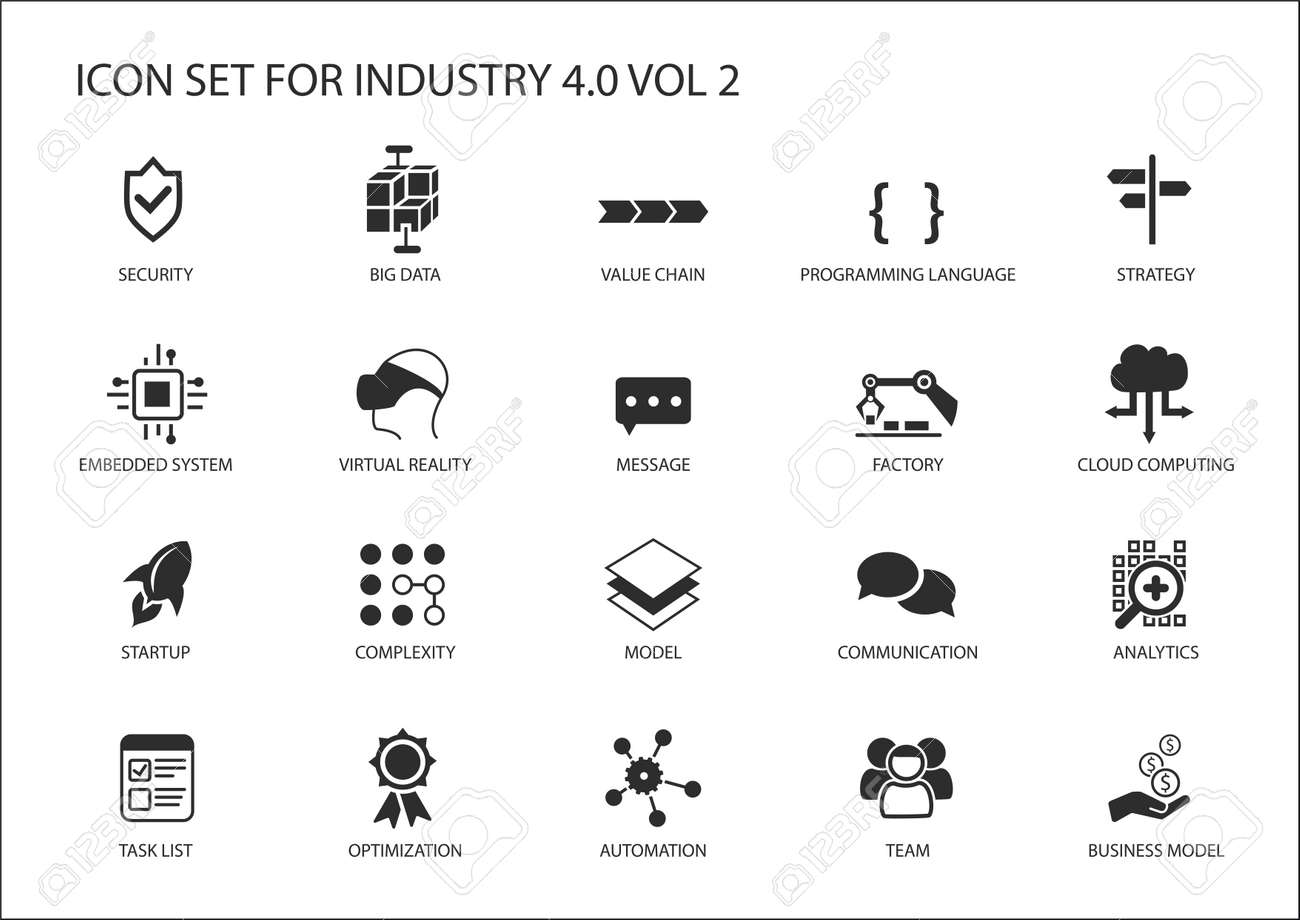 Reusable icon set for industry 4.0 - 69253876