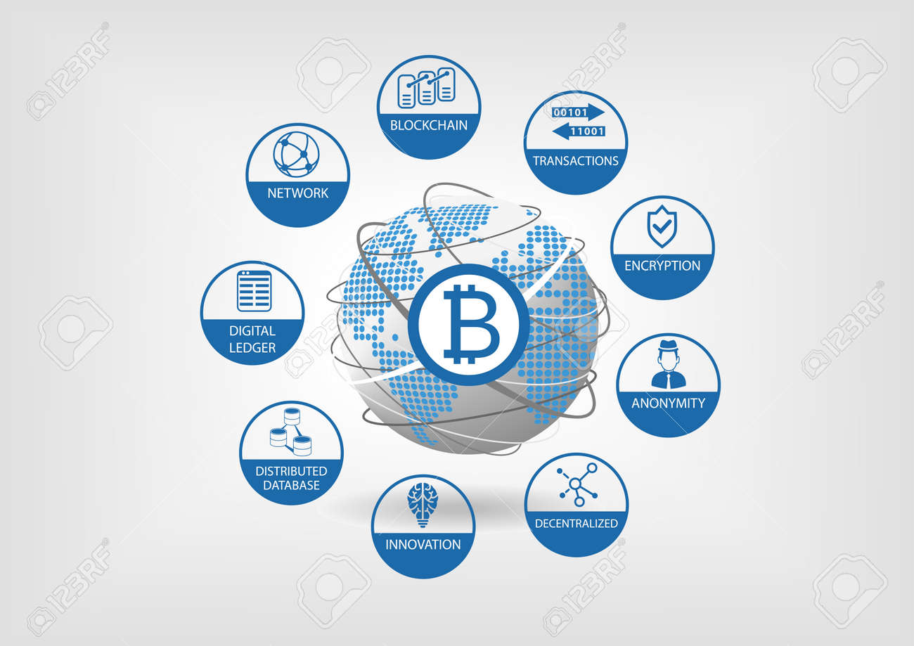 Bitcoin and crypto currency vector illustration - 69587629