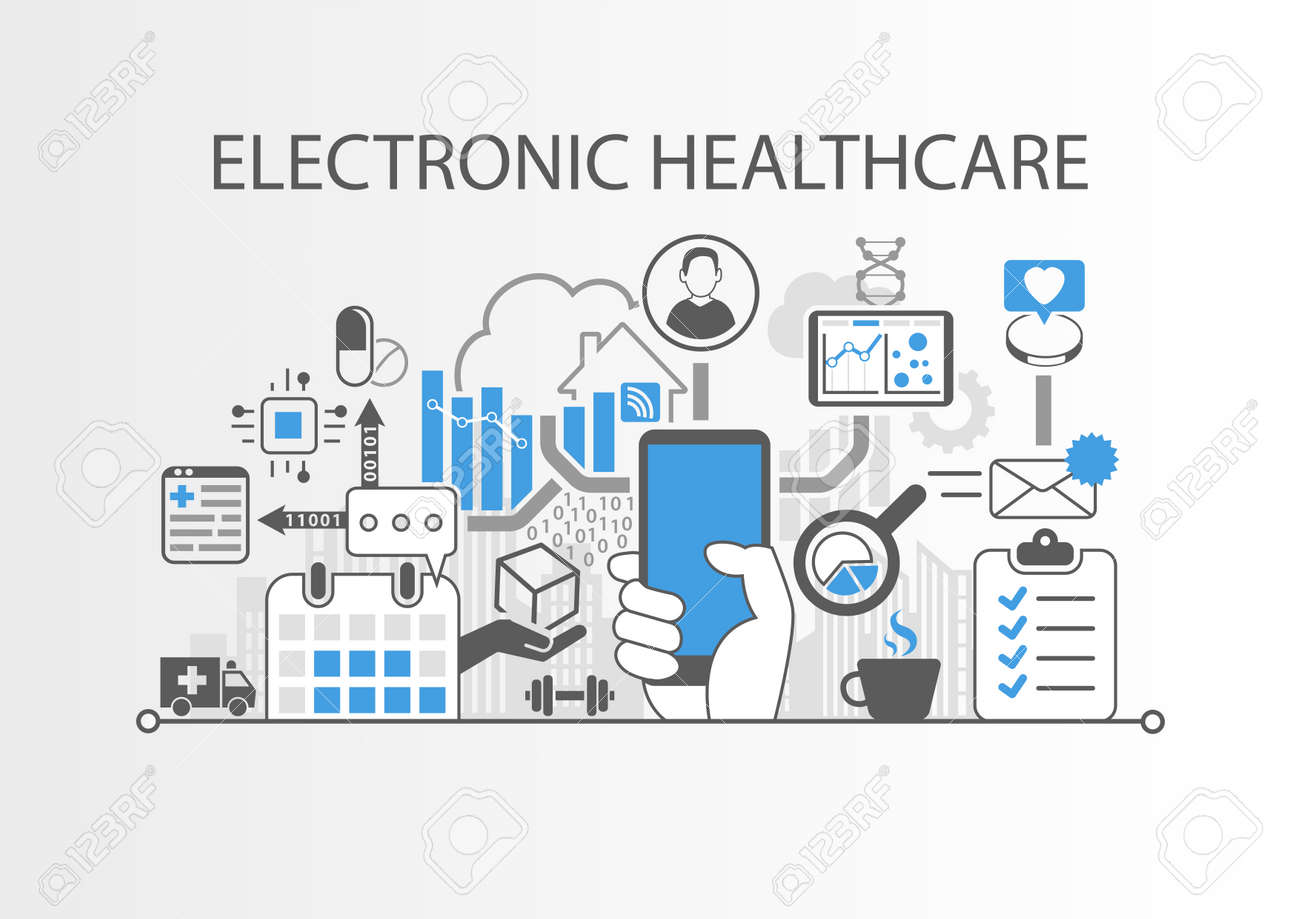 Electronic health care concept - 79387477