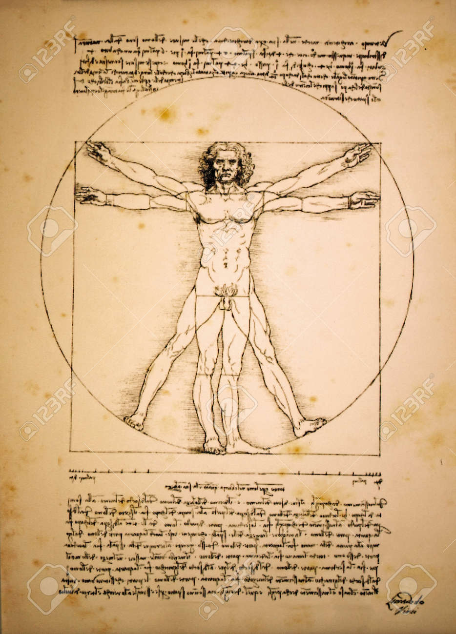 Vitruvian Man Of Leonardo Da Vinci Stock Photo, Picture And Royalty ...