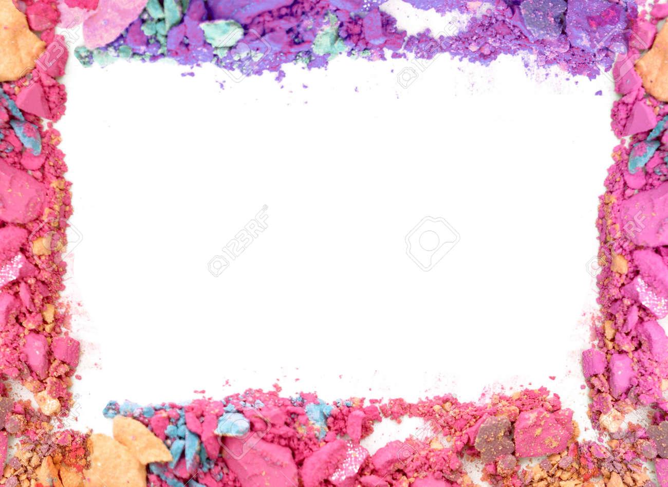 Make-up-Farbe Rahmen Auf Weißem Hintergrund Lizenzfreie Fotos ...