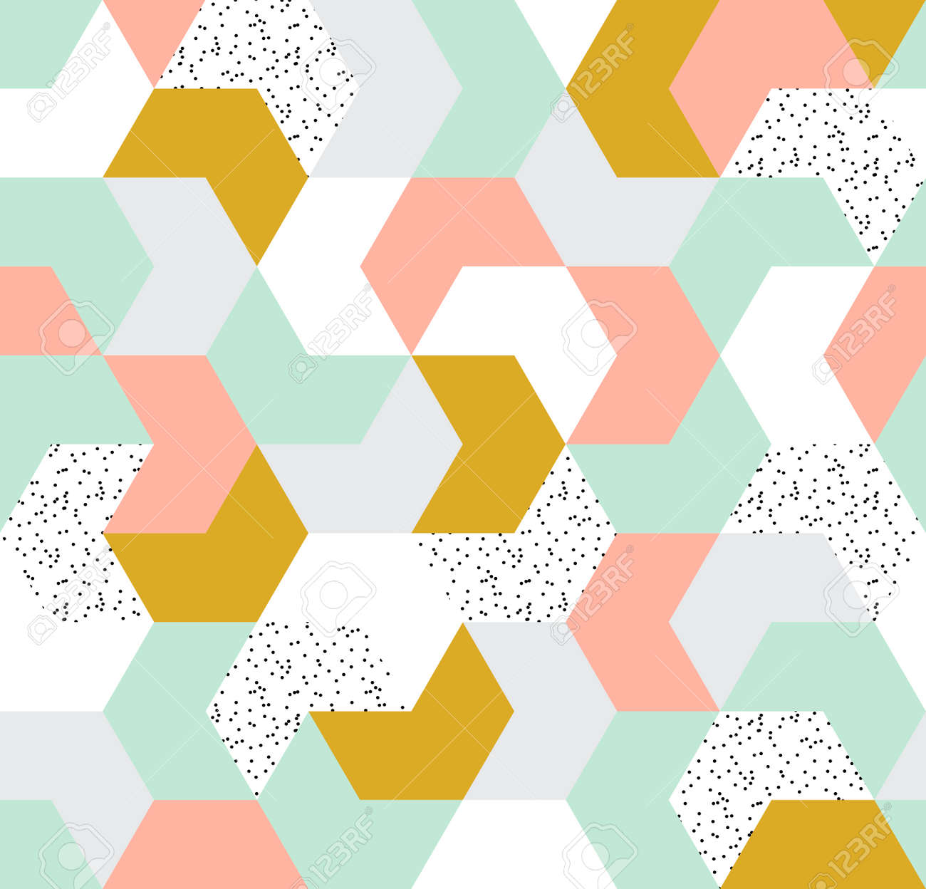 Cute colorful arrow seamless pattern  Endless background of geometric