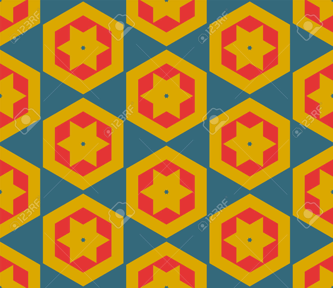 Abstract fantasy thin line hexagon, triangle geometric seamless pattern. Creative mosaic, tile background. - 165155393