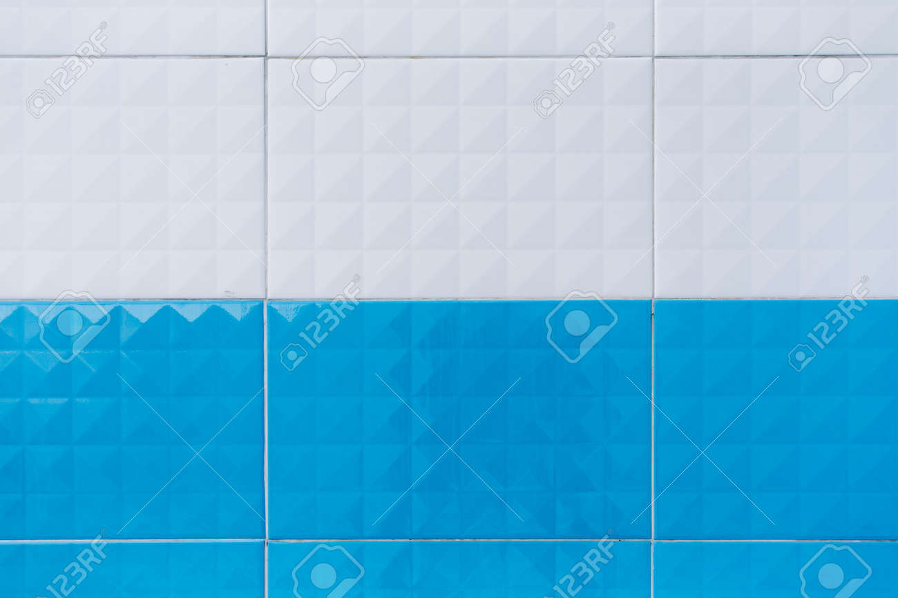 Wall Tile Two Tone Texture Background Stock Photo, Picture And ...