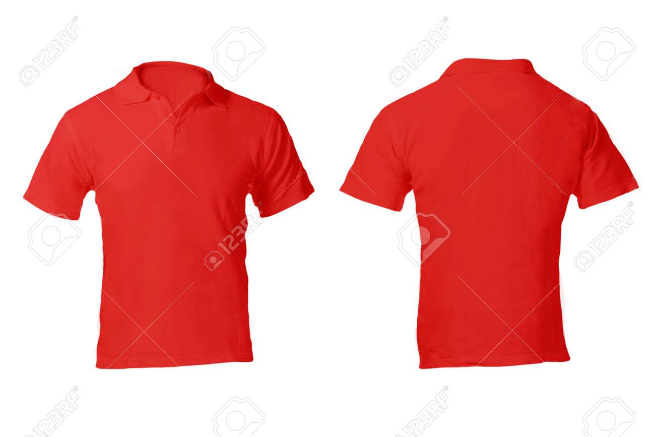 d7332749b En Blanco Camisa Roja Polo Masculino