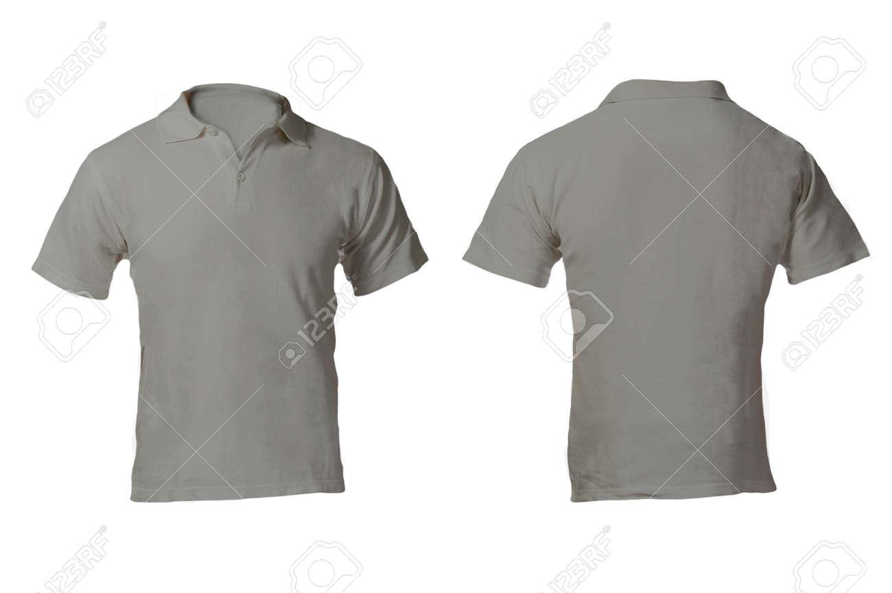 Men s Blank Grey Polo Shirt 701dc1c24