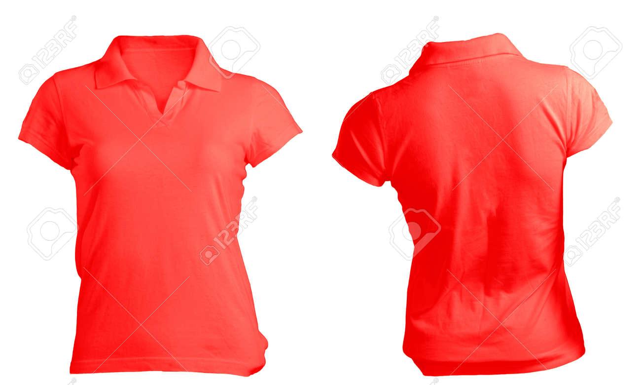 db68b2fe3 En Blanco Camisa Roja Mujeres Camiseta Polo