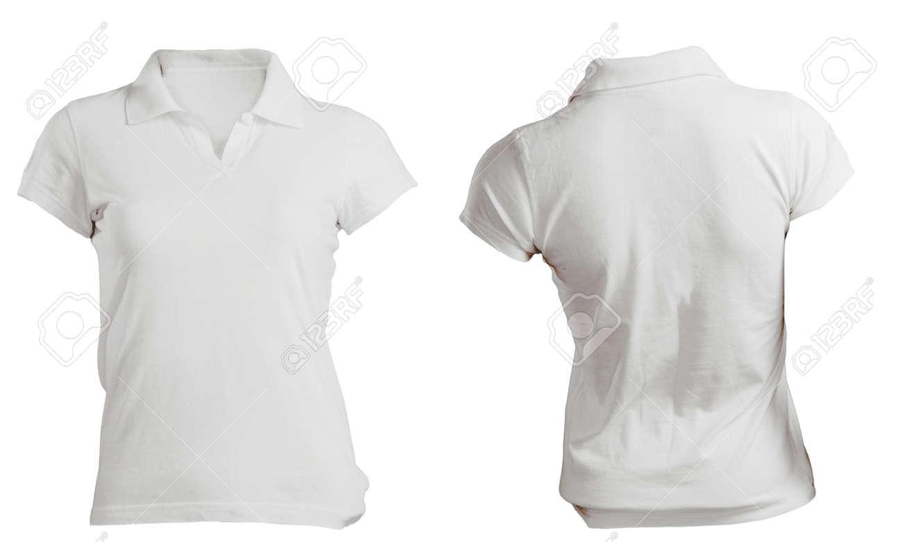 7117e51446128 Camisa Blanca En Blanco Mujeres Camiseta Polo