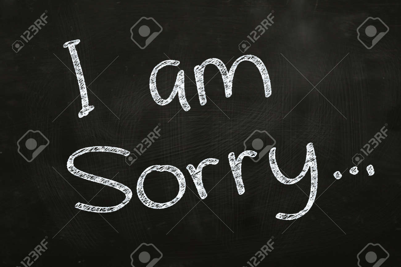 sample of resignation letter%0A I am sorry writing written with chalk on blackboard stock photo i am sorry  writing written