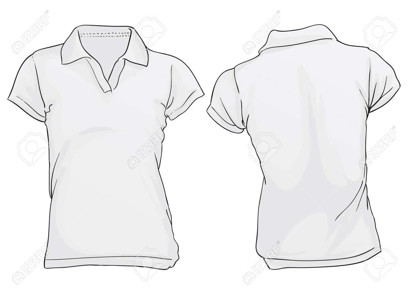 women s black polo shirt template royalty free cliparts vectors