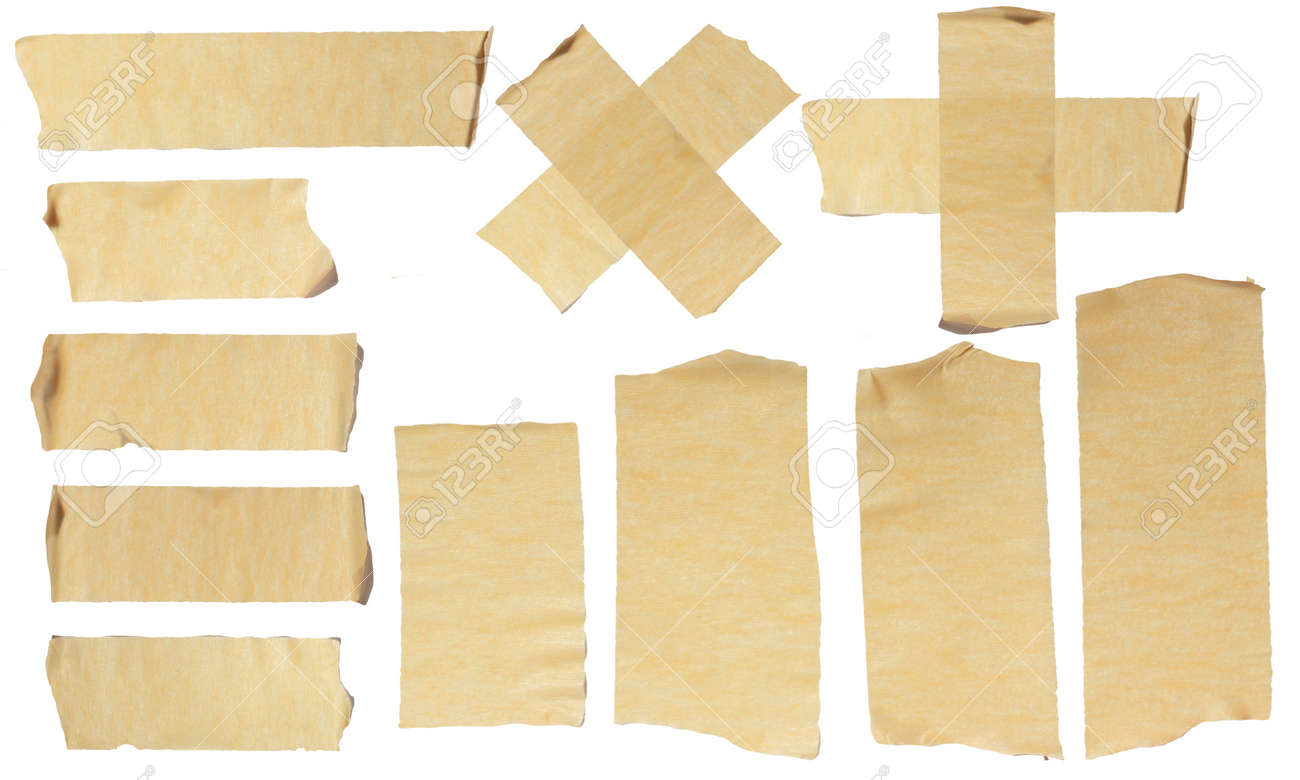 Images Of Ripped Masking Tape Isolated On White Stock Photo, Picture ...