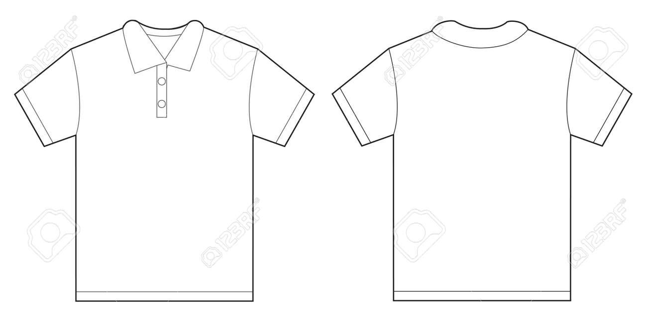 f76712e66 Foto de archivo - Ilustración del vector de la camisa blanca de polo