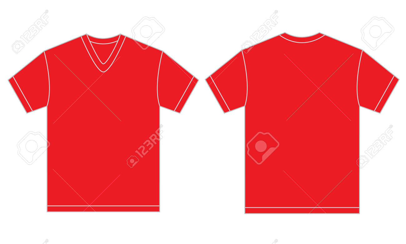 Vector - Vector illustration of red v-neck shirt 21d156e17db5