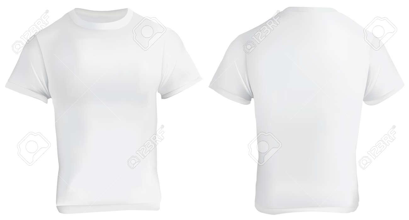 Vektor-Illustration Der Leere Weiße T-Shirt-Vorlage, Vorne Und ...