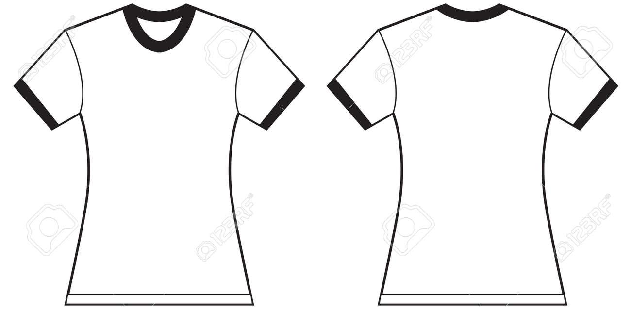 Foto de archivo - Ilustración del vector de la camiseta del campanero de  las mujeres 72e52684629e9