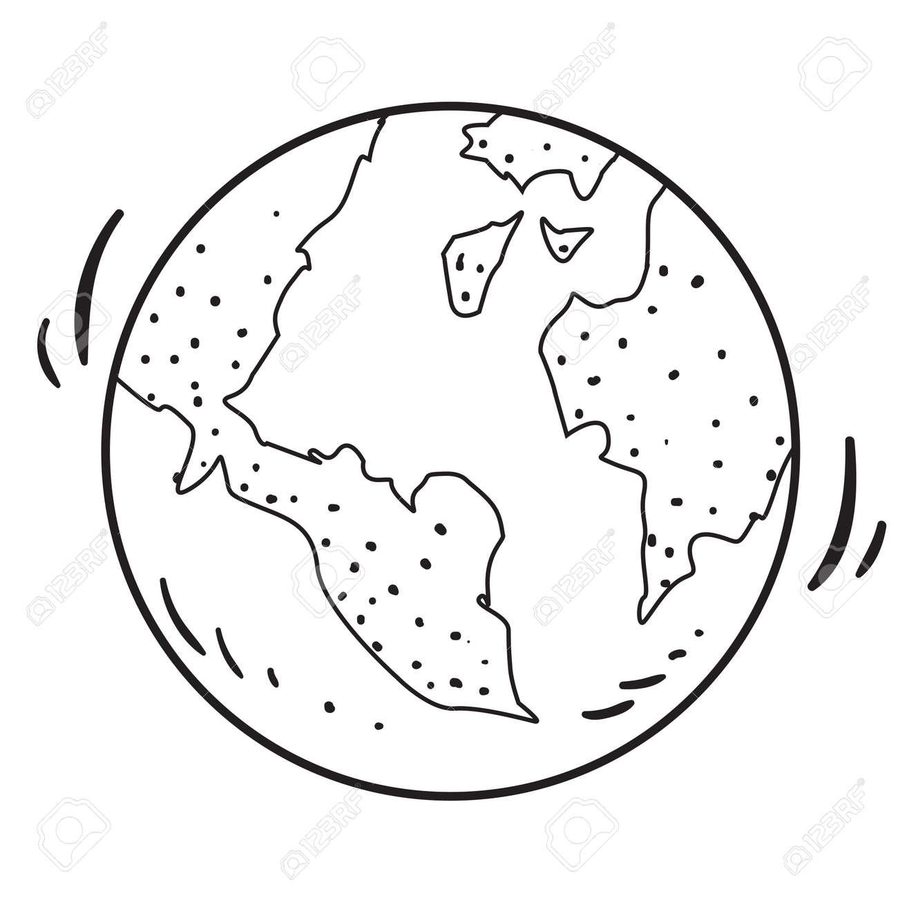 Illustration Vectorielle De La Planète Terre En Dessin Animé De