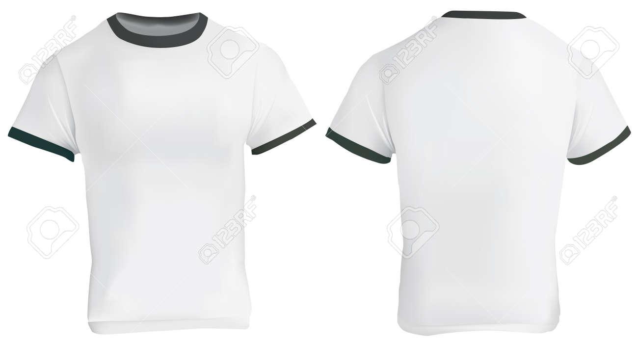 Illustration Leere Männer Ringer T-Shirt-Vorlage, Ein Weißes Hemd ...