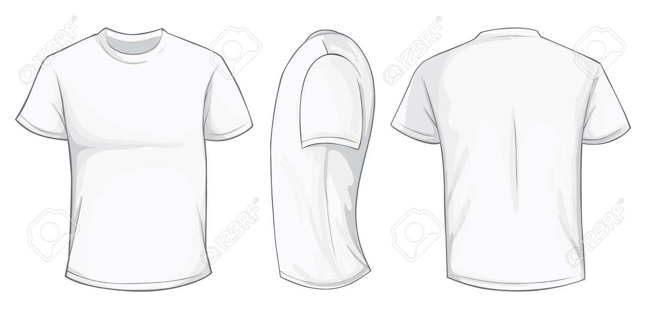 Ilustración Vectorial De Los Hombres Blancos Plantilla De Camiseta ...