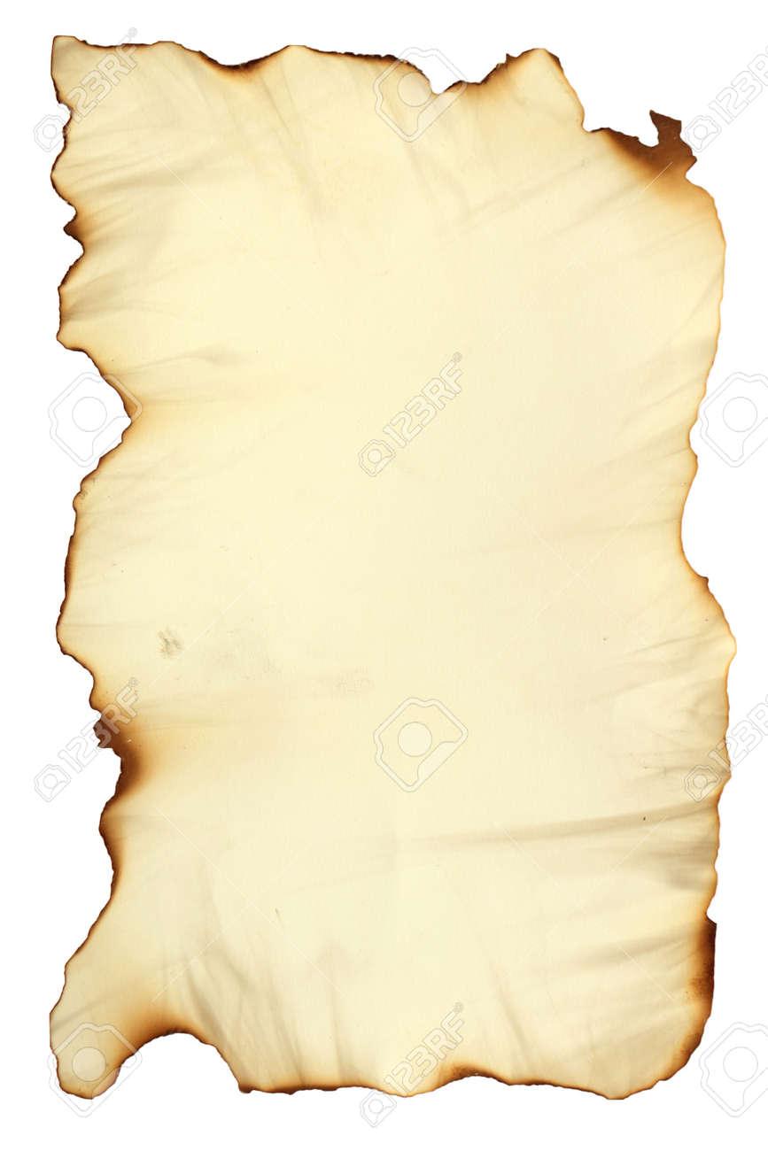 Foto-Bild Von Einem Alten Papier Blatt Isoliert Auf Weiß, Grunge ...
