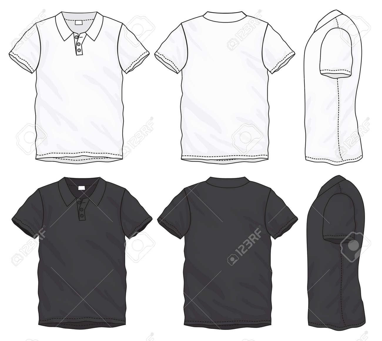 Negro Vectorial Corta Blanco Camiseta Y Manga De Ilustración q4pxwOq