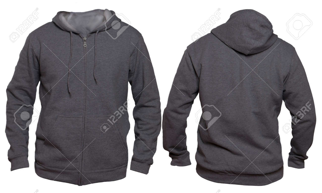 blank sweatshirt mock up template front and back view isolated