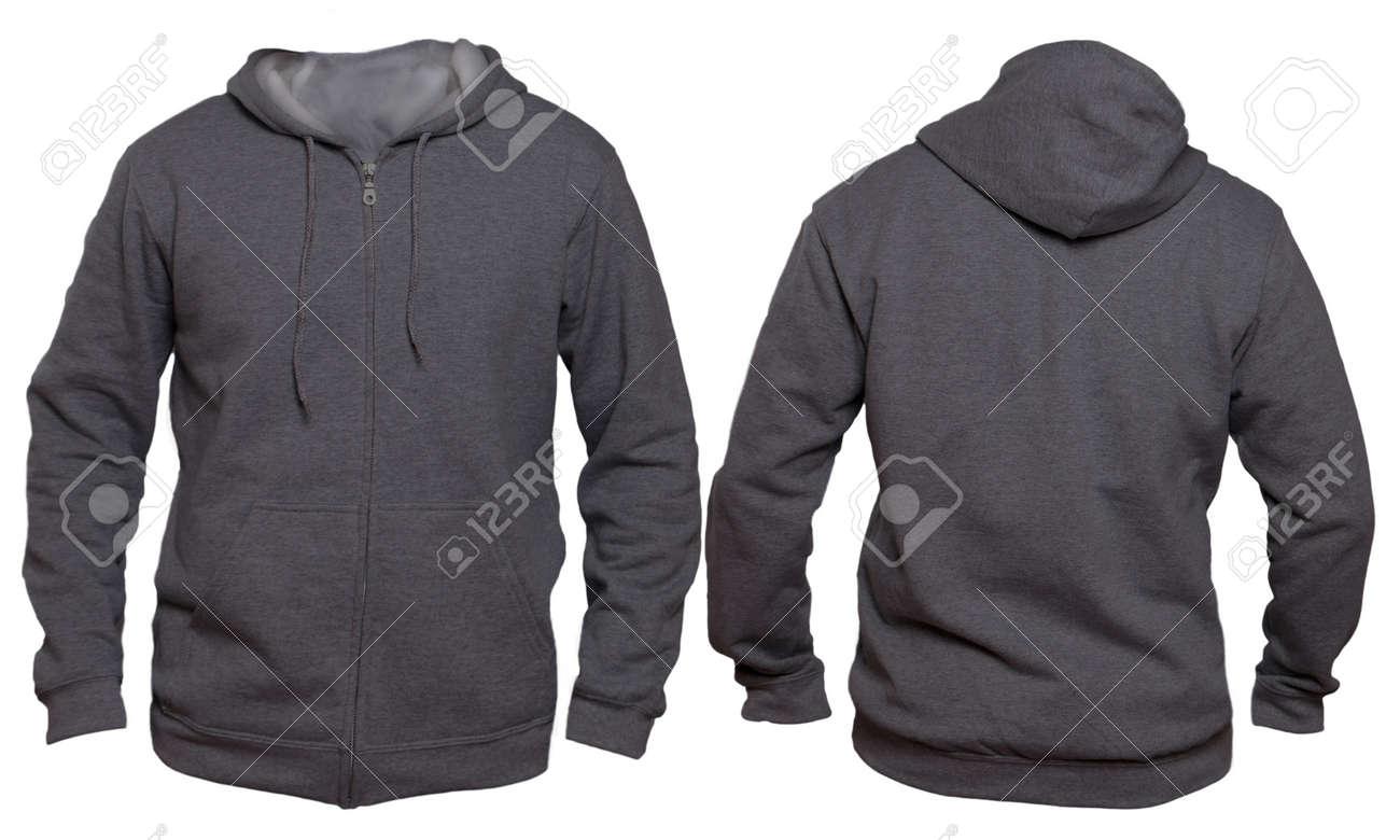 Leeres Sweatshirt Verspotten Herauf Schablone, Front Und Hintere ...