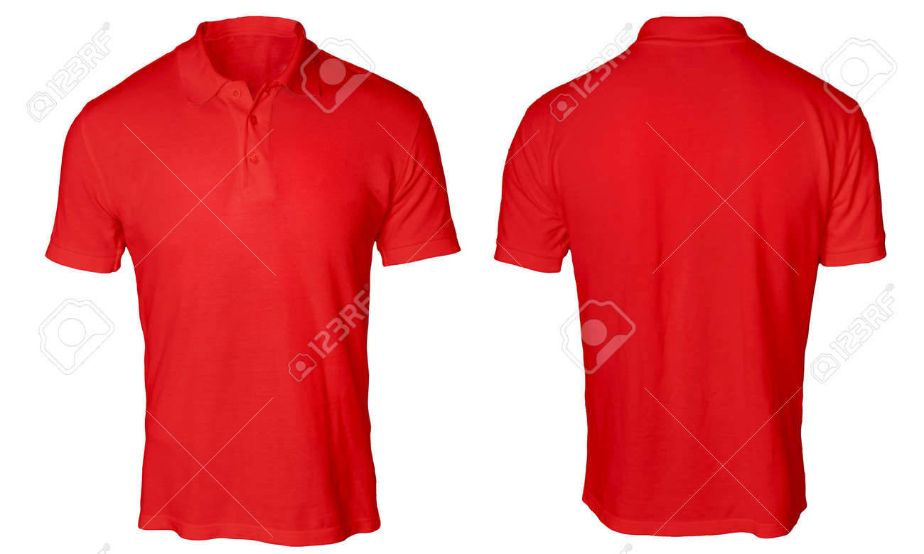 Blank Polo Shirt Mock Up Template, Front And Back View, Isolated ...