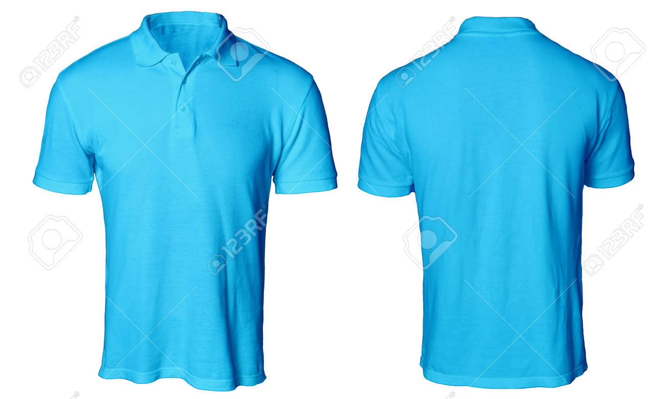 Blank Polo Shirt Mock Up Template Front And Back View Isolated