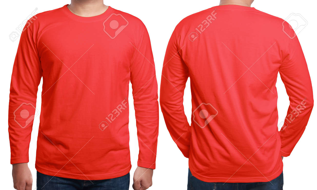 Red Long Sleeve Tops