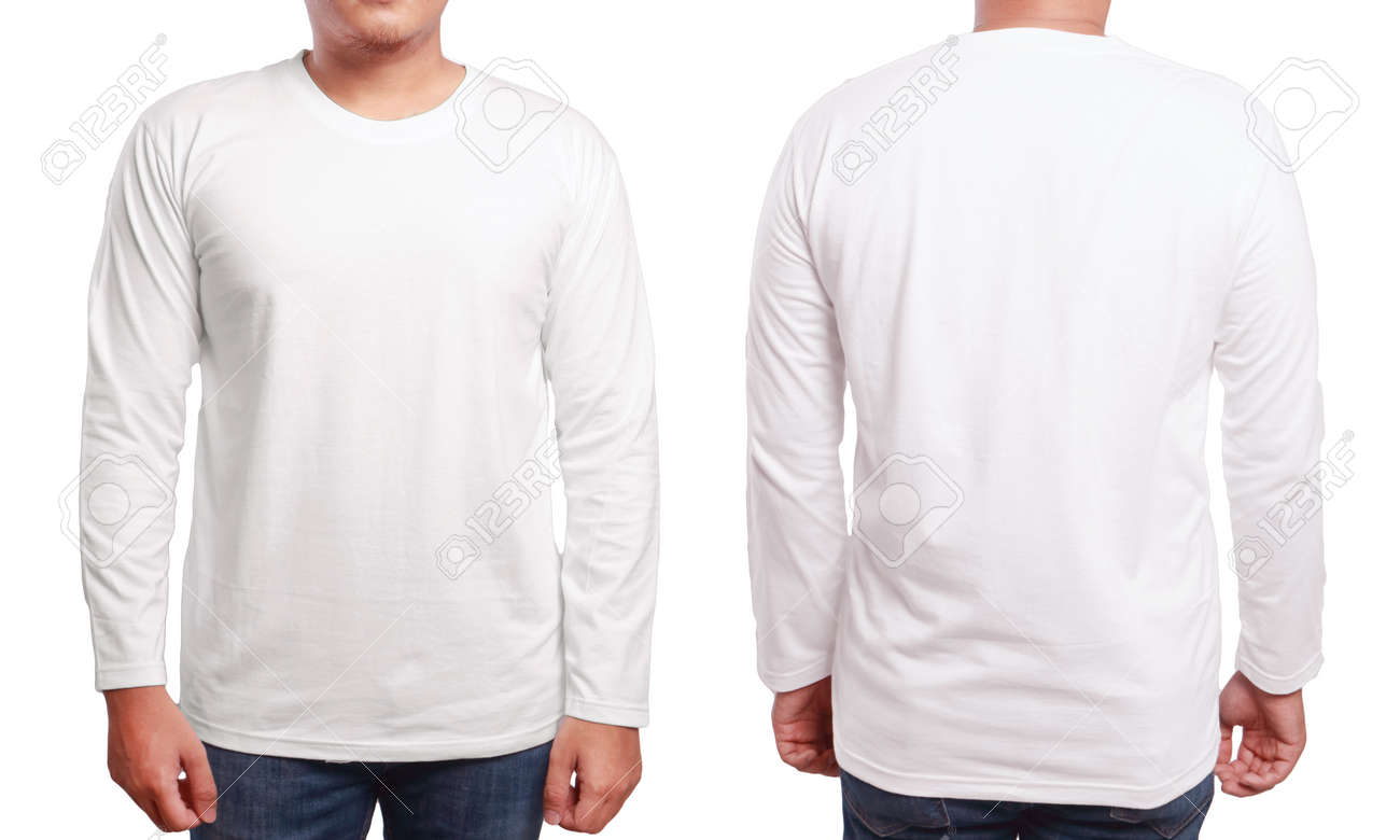 81253357-white-long-sleeved-t-shirt -mock-up-front-and-back-view-isolated-male-model-wear-plain-white-shirt -mo.jpg ee0d861788b