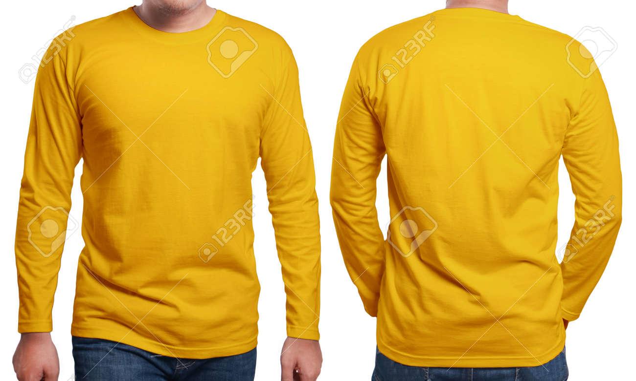 Orange Long Sleeved T-shirt Mock Up 97dd64bd95e
