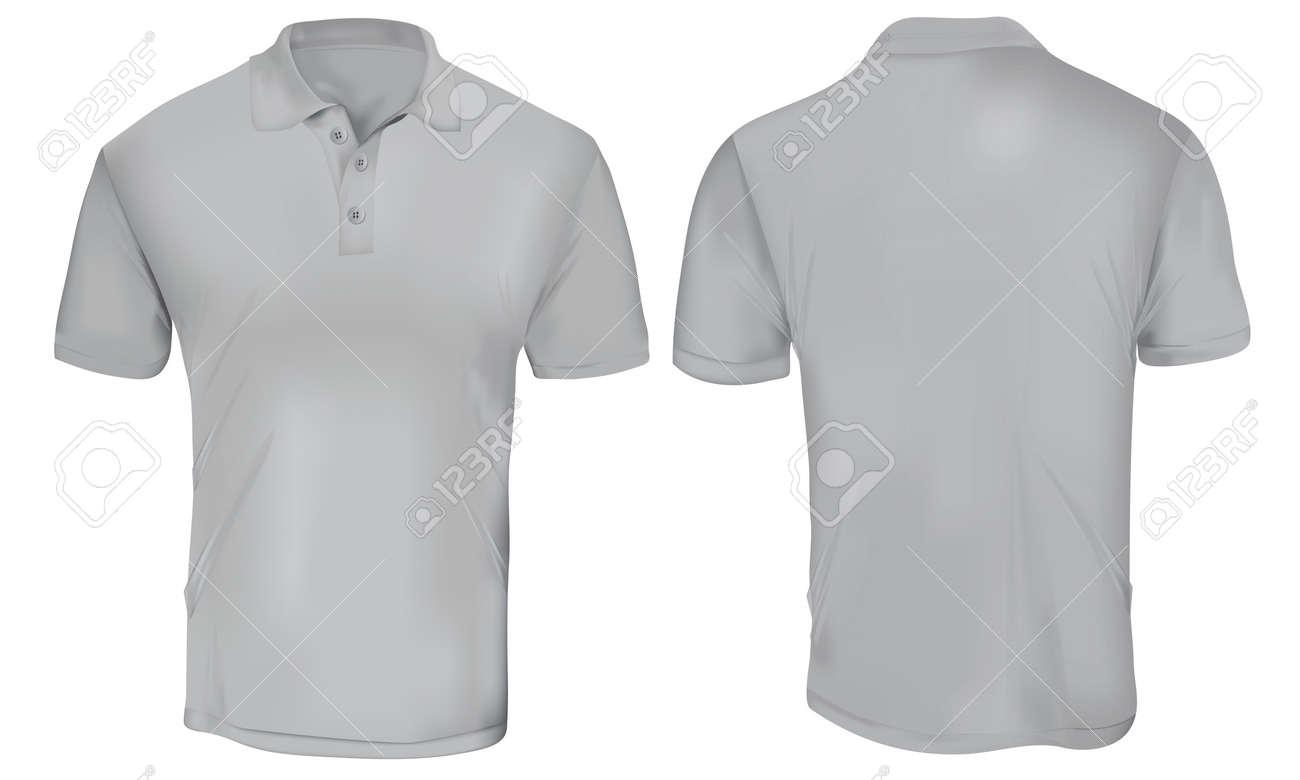 Grey Polo Shirt Template Royalty Free