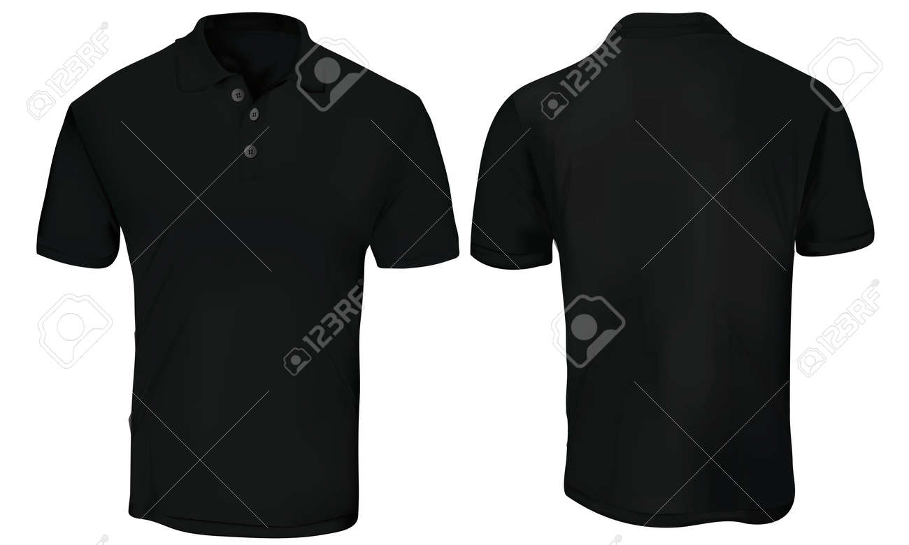 black polo shirt template royalty free cliparts vectors and stock