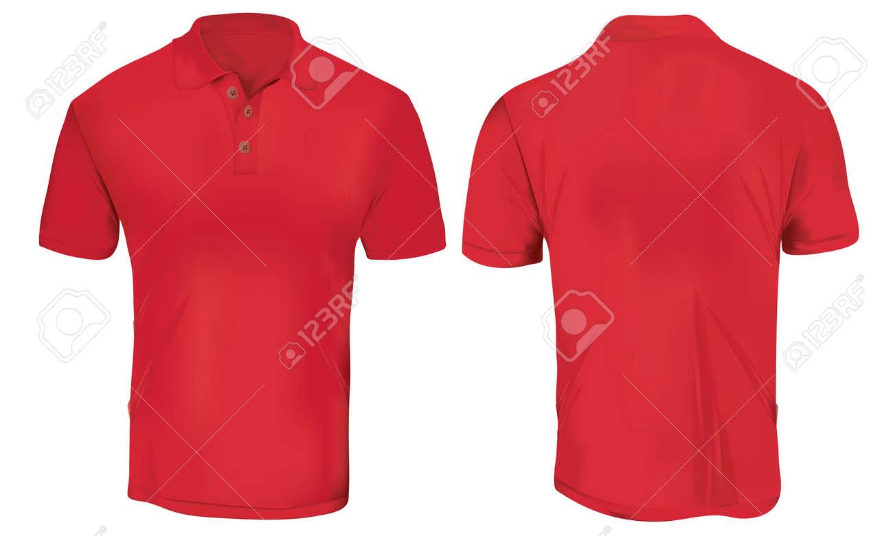Red Polo Shirt Template Stock Vector - 83667584 0ce52b2ed4e51