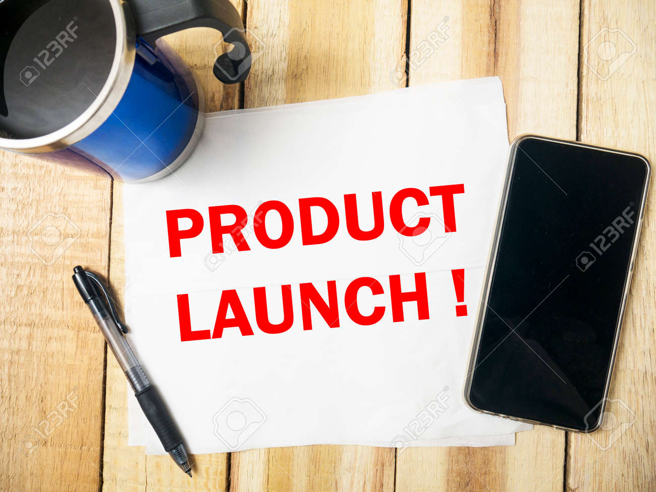 Product Launch Motivational Business Marketing Words Quotes Stock Photo Picture And Royalty Free Image Image 109733776