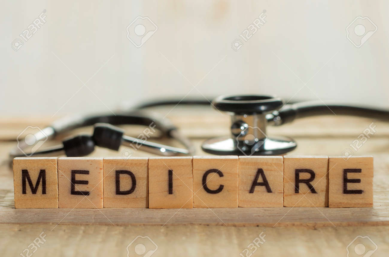 Medical and health care words writing typography lettering concept, Medicare - 114540055