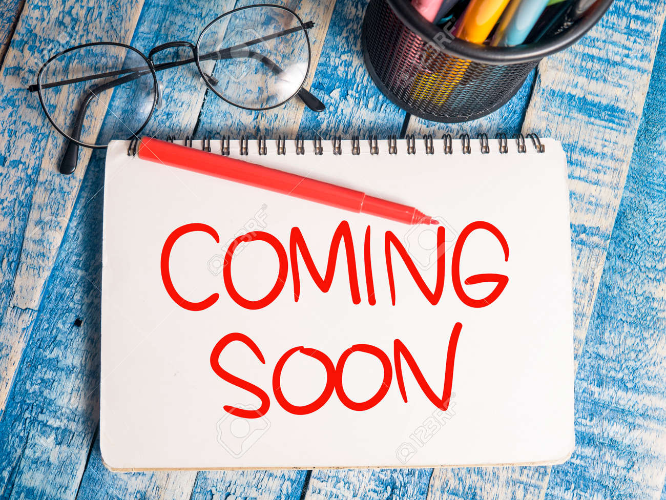 Coming Soon Motivational Inspirational Business Marketing Words Stock Photo Picture And Royalty Free Image Image 121554860